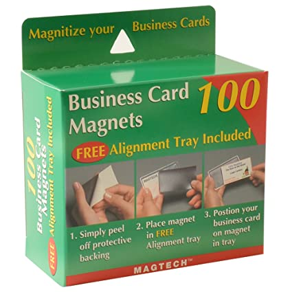 Amazon Magtech Business Card Magnets With Alignment Tray 100