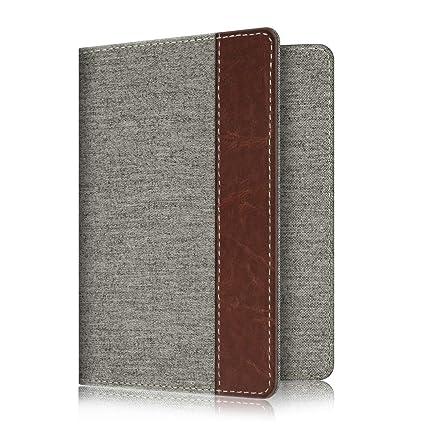 7457e2f733eb Fintie Passport Holder Travel Wallet RFID Blocking Fabric Card Case Cover,  Denim Grey