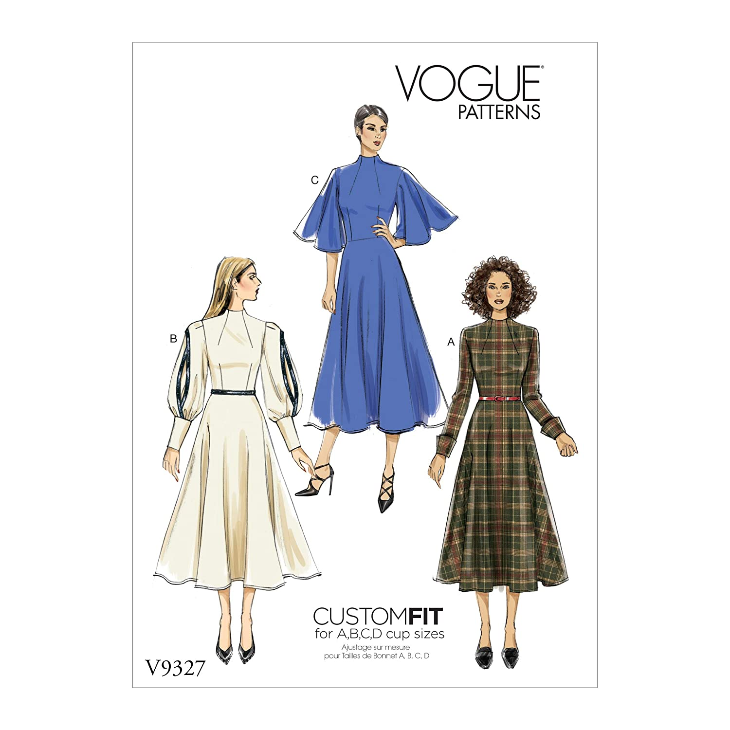 Vogue V9327 Misses\' Dress Pattern A5 (Sizes 6-14) Kwik Sew