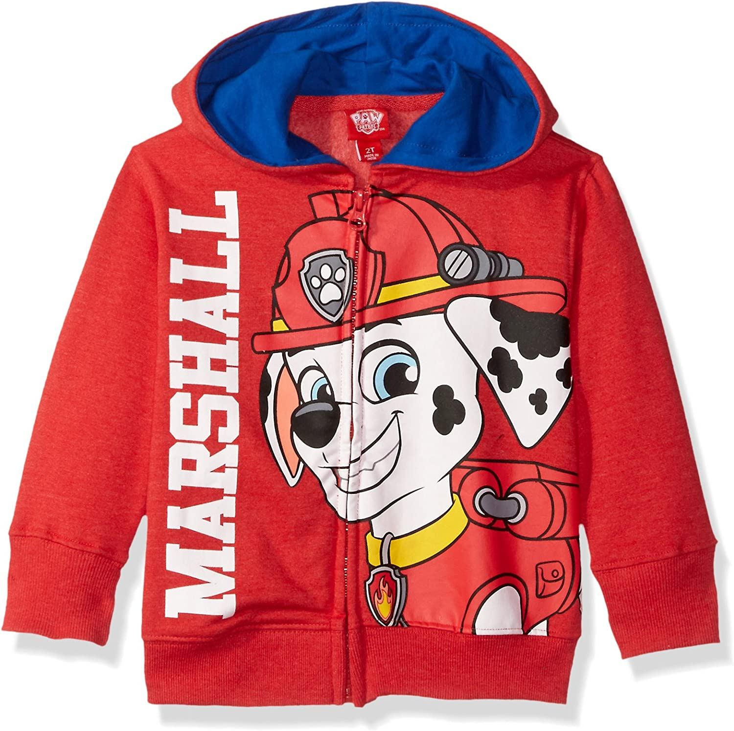 Children/'s Paw Patrol I am Marshall Zip up Red Hoodie