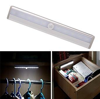 Ponerine Body Motion Sensor Under Cabinet Lights Battery Powered ...