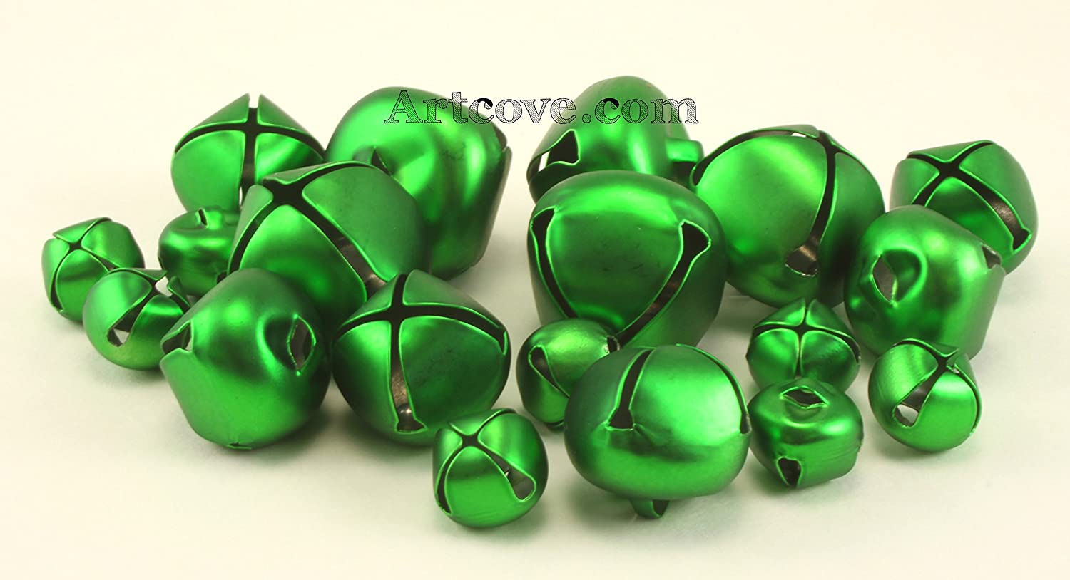 Green Craft Tiny Small Jingle Bells Assorted Sizes 1/2, 3/4 and 1 inch 19 Pieces Darice 4336848481