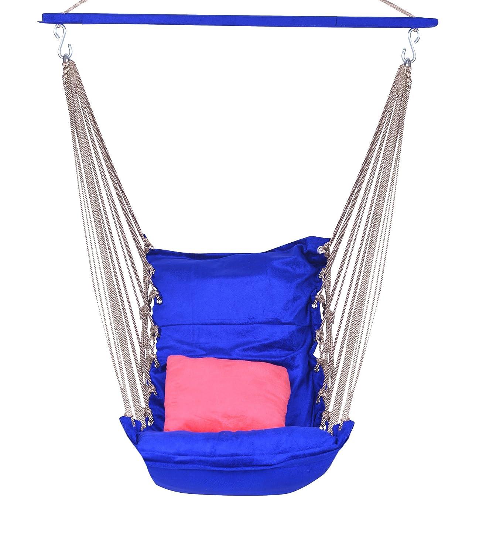 A & E Comfortable Blue/Pink Cotton Swing Aashi Enterprise CI-645