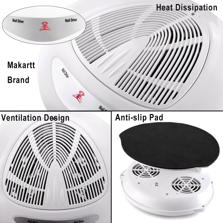 Amazon.com : Makartt Professional Air Nail Fan Blow Dryer Machine ...