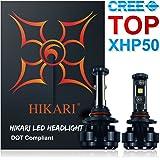 HIKARI LED Headlight Bulbs Conversion Kit -HB4(9006),CREE XHP50 9600lm 6K Cool White,2 Yr Warranty