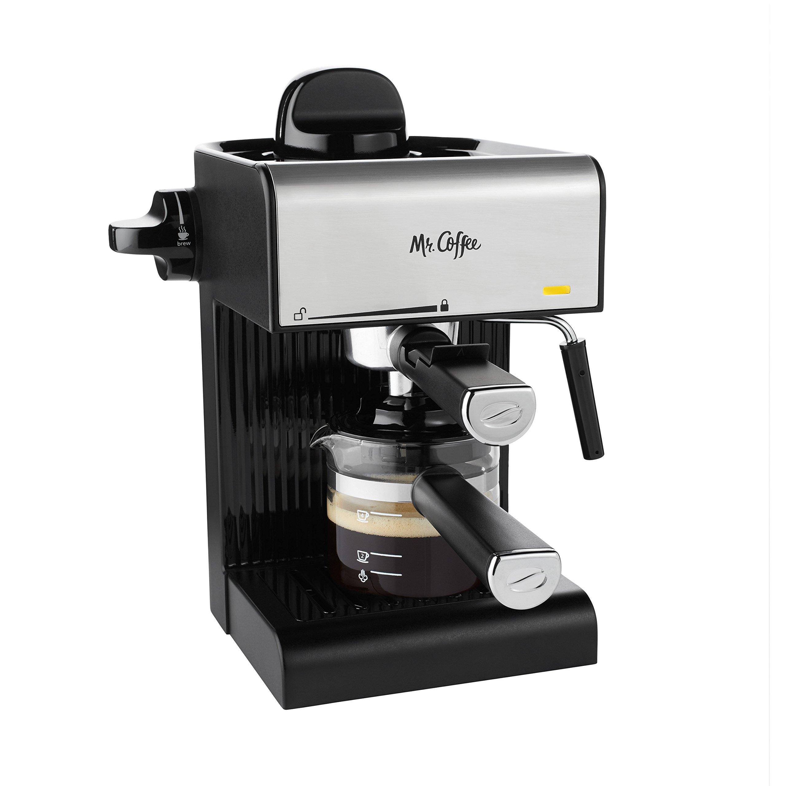 Mr. Coffee BVMC-ECM180 Steam Espresso with Starter Set, Black by Mr. Coffee