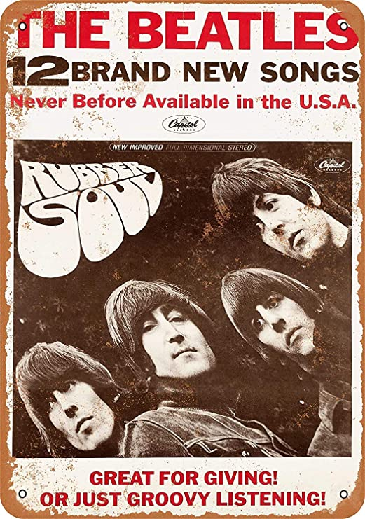 KODY HYDE Póster De Pared Metal - The Beatles Rubber Soul ...