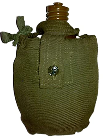 Army Flask In A Fabric Cover.Clipping Path Stock Photos - Image ...