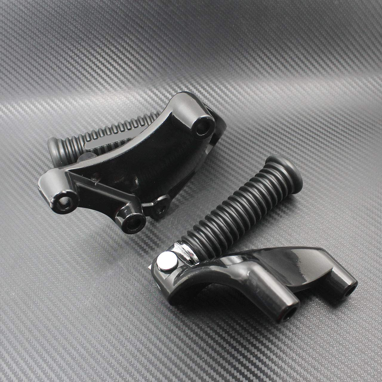 YHMTIVTU Motorcycle Rear Passenger Foot Pegs Footpegs Foot Rests Pedal Mount Fits for Harley Sportster Iron XL 883 1200 48 72 2014-2018