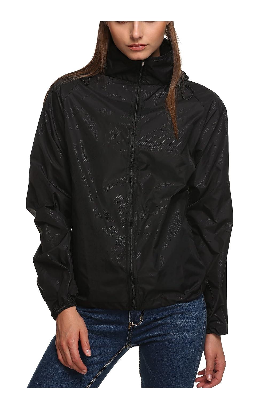 Amazon.com: Zeagoo Lightweight Rainwear Active Outdoor Hoodie ...