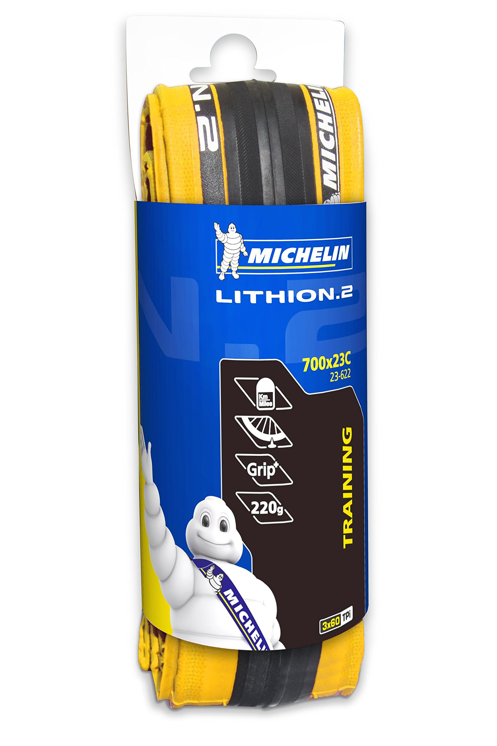 MICHELIN Lithion 2 Road Tire (Yellow, 700 x 23c)