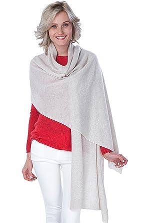 CASHMERE 4 U Echarpe Extra Large Etole 100% Cachemire pour Femme   Amazon.fr  Vêtements et accessoires e88b0fcc68a