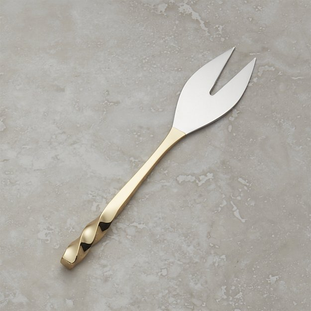 Gold Soft Cheese Knife | Crate and Barrel