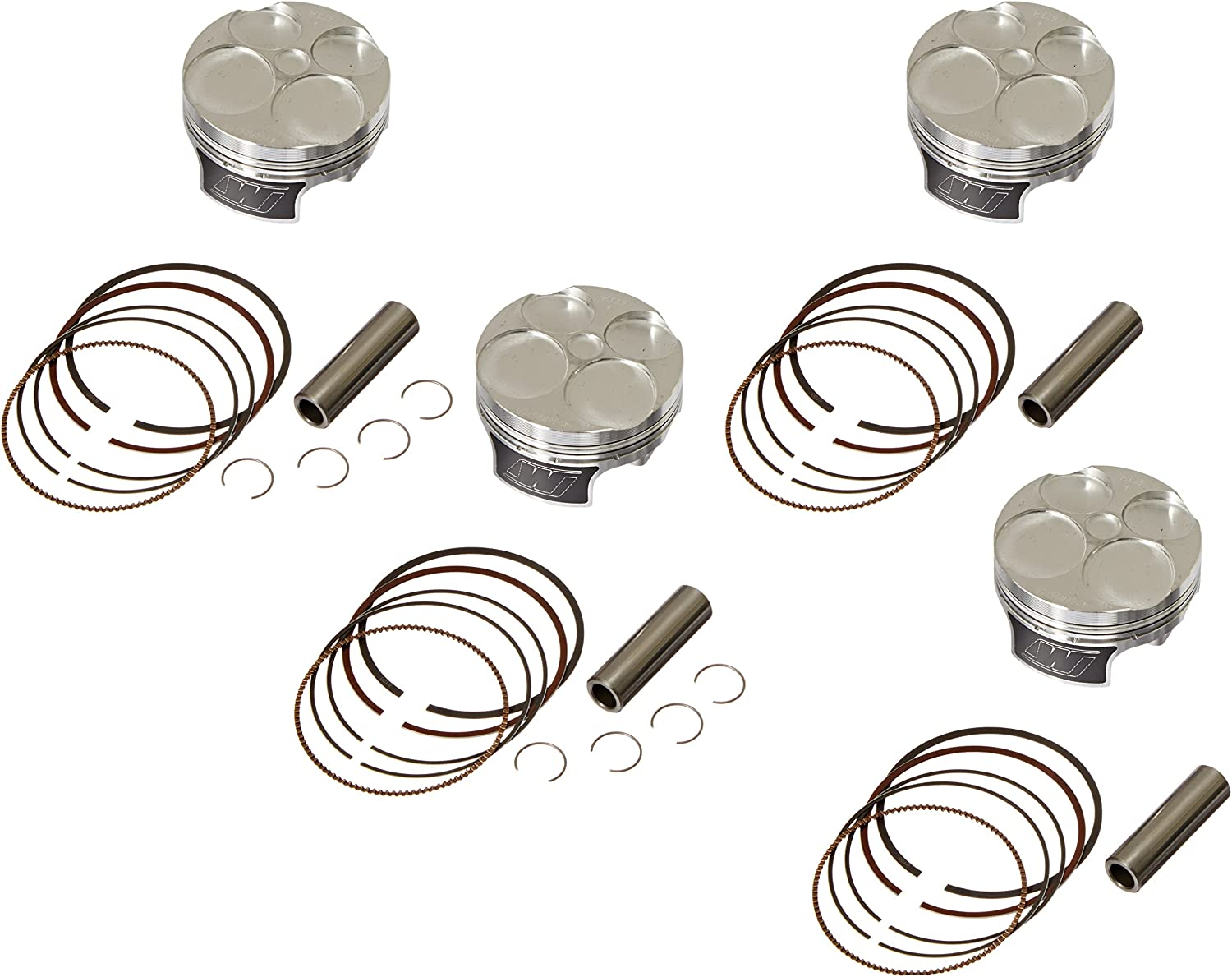 CK198 67.0mm 13:1 Compression Ratio 4-Stroke Motorcycle Top End Piston Kit Wiseco