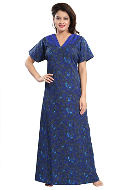 4ca6142f90 TUCUTE Women Girls Beautiful Printed Nighty Night Gown Night Dress Nightwear  (