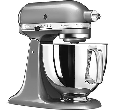 KitchenAid Artisan - Robot de cocina (4,8 L, Plata, palanca, 220 RPM, 1,454 m, AC): Amazon.es: Hogar