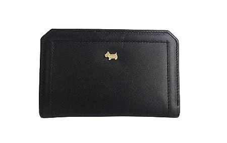 4b516b1a0673 Radley Marwood Medium Black Leather Bifold Wallet Purse