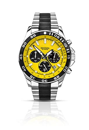 watch com nautica amazon mens yellow dp ncs flag dial watches