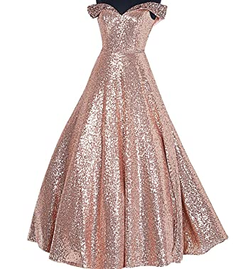 Womens Sweetheart Sequined Beaded A Line Formal Evening Prom Party Gowns Celebrity Dresses Size 2 Rose