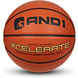 """AND1 Xcelerate Rubber Basketball (Inflated) OR (Deflated w/Pump Included): Official Regulation Size 7 (29.5"""") Streetball, Mad"""