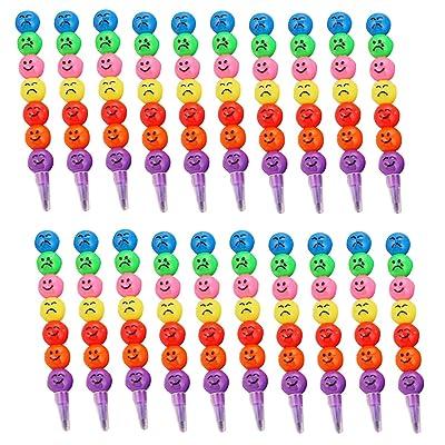 20pcs surtido de colores lindos dibujos animados calabaza confitada forma graffiti lápices crayones dibujo colorear plumas pintura dibujo suministros: Oficina y papelería