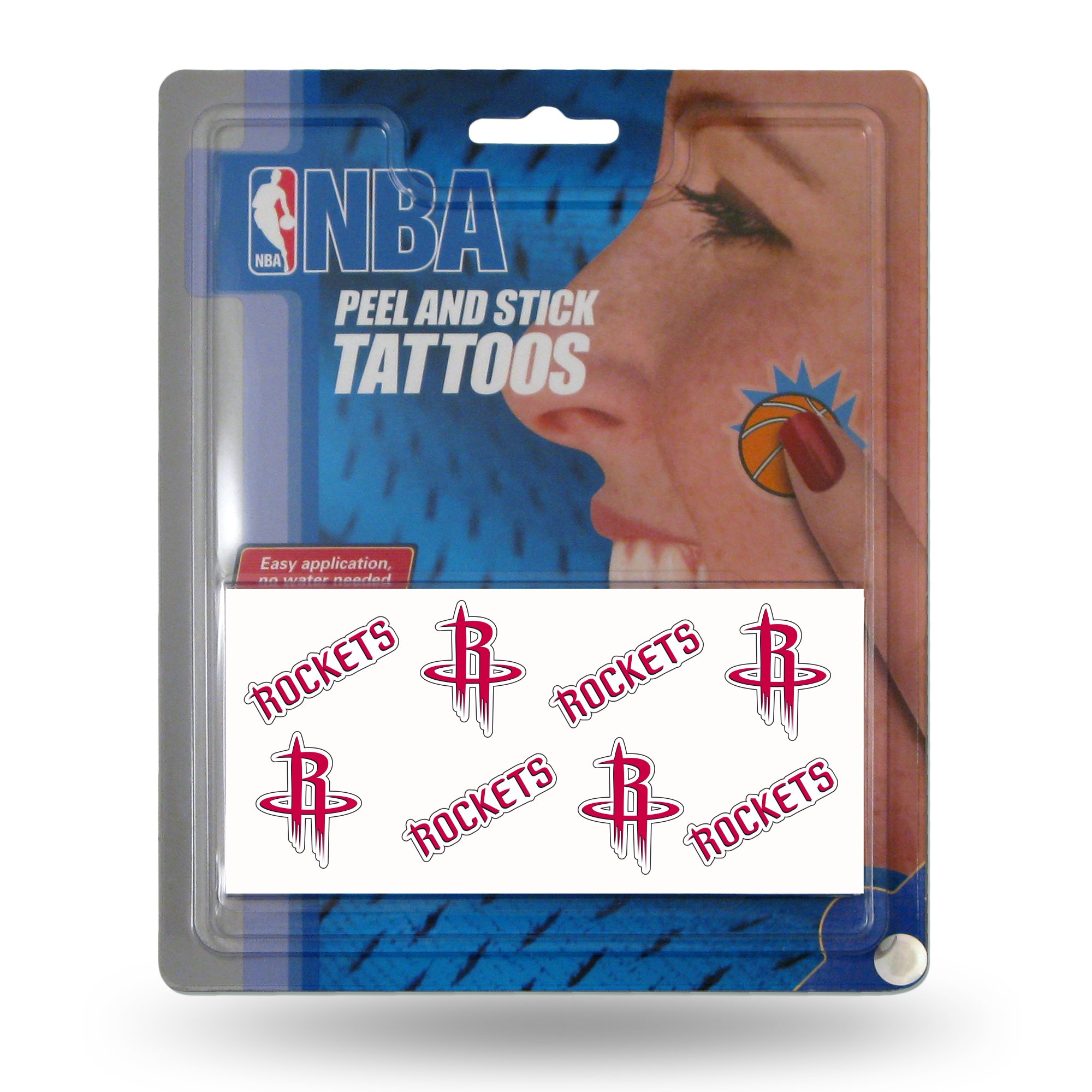 NBA Houston Rockets Face Tattoos, 8-Piece Set