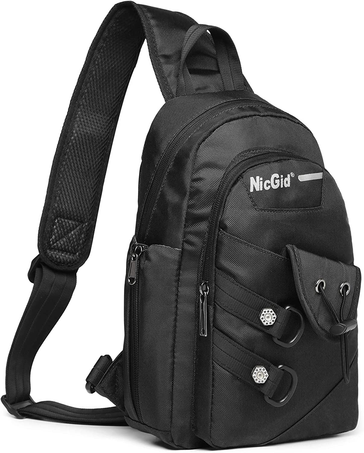 Nicgid Sling Bag Chest Shoulder Backpack Crossbody Bags for iPad Tablet Outdoor Hiking Men Women