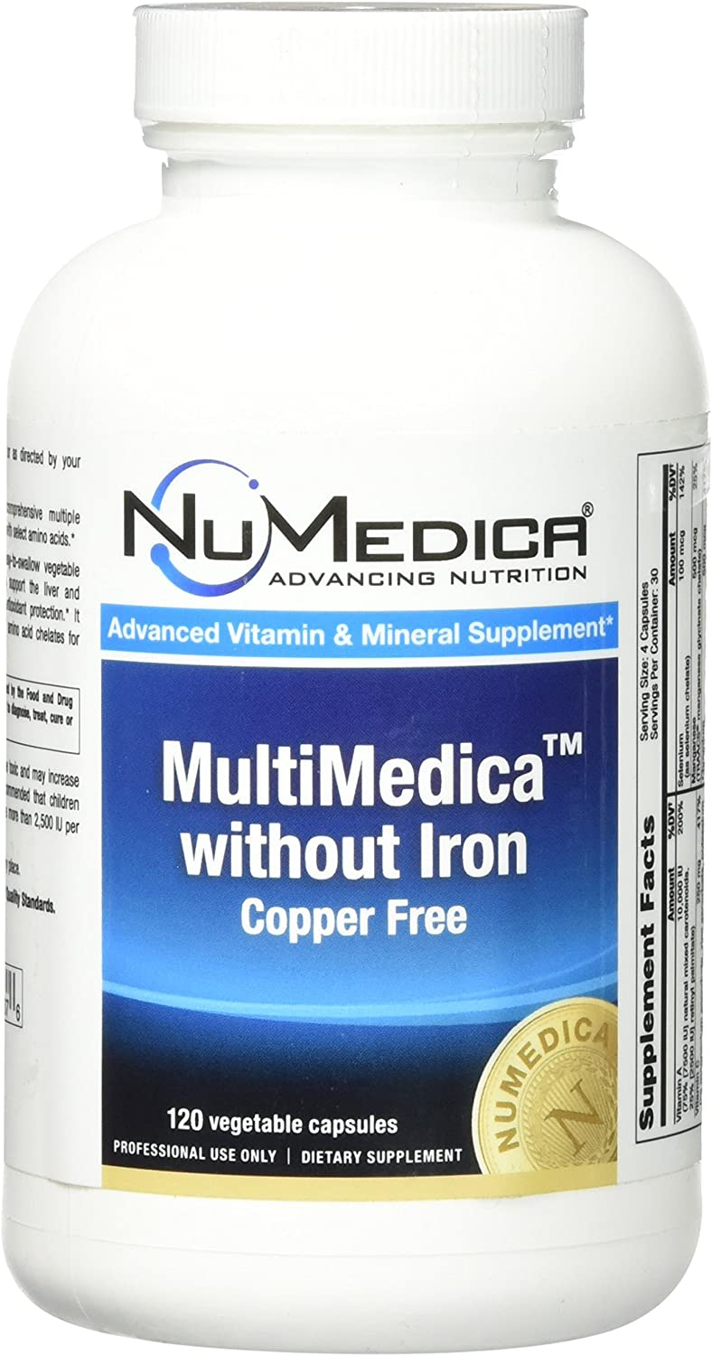 NuMedica – MultiMedica without Iron – 120 Vegetable Capsules