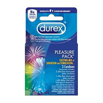 Durex Pleasure Pack, Assorted Premium Lubricated Condoms