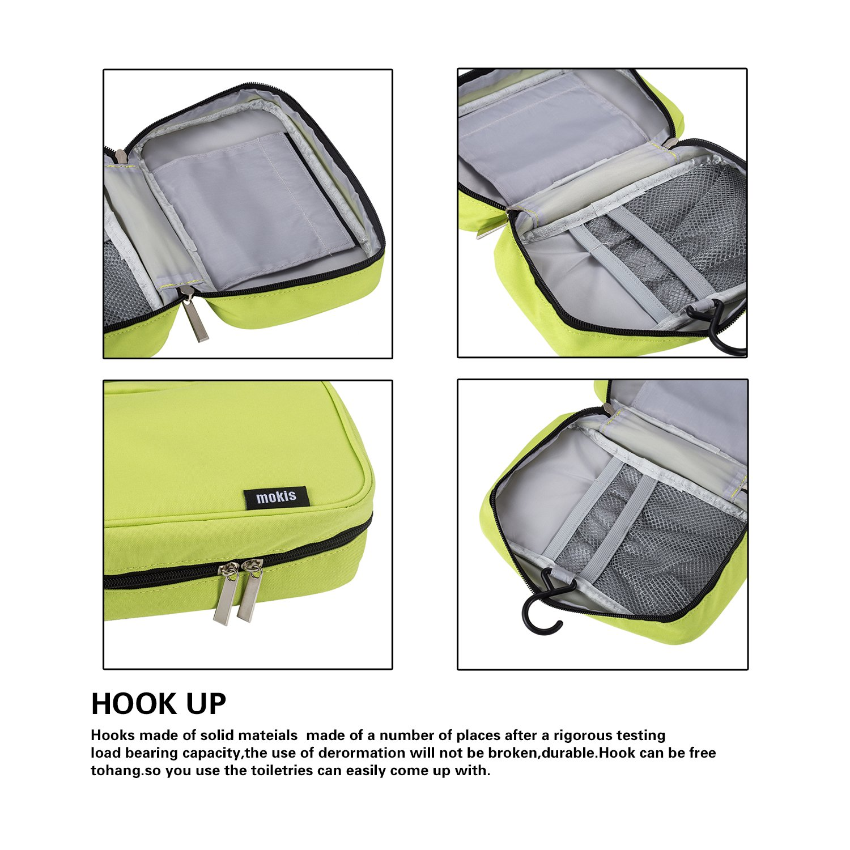 587039df00 Amazon.com  Portable Hooks (Mokis) Waterproof Makeup Travel Organizer Bag