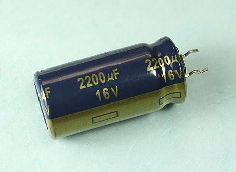 2 x 2200uf 6,3 Volt Capacitor 105 ° C