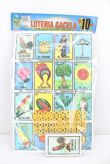 Jumbo Loteria Mexicana Family Set 10 Boards Cards