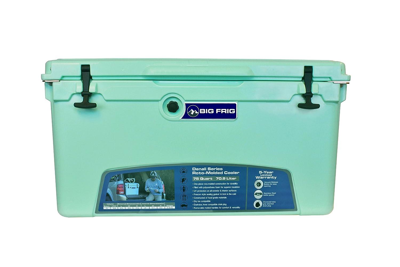 Big Frig Sea Foam Denali Cooler (75 Quart) Bundle includes Cutting Board/Divider, Basket, 5 Year Limited Warranty