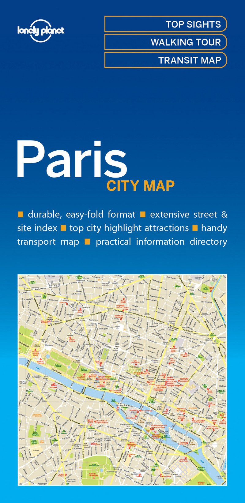 Lonely Planet Paris City Map (Lonely Planet City Maps)