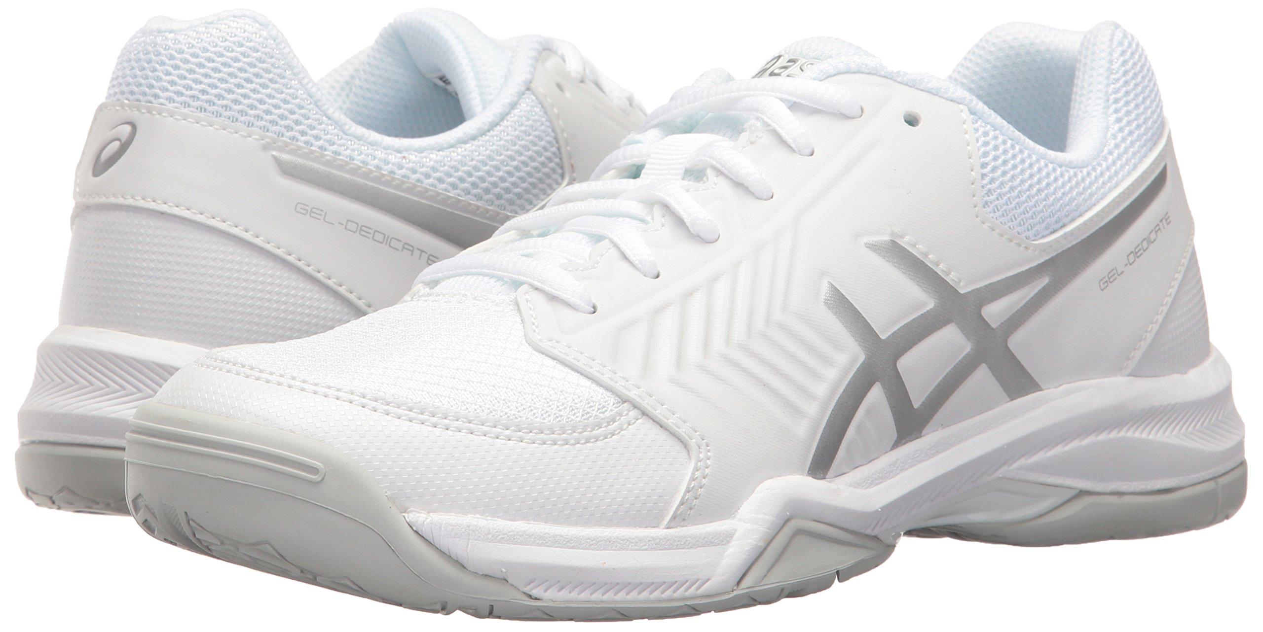 ASICS Women's Gel-Dedicate 5 Tennis Shoe White/Silver 5.5 M US by ASICS (Image #6)