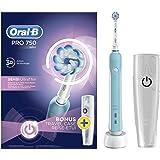 Oral-B Pro 750 Sensi Ultrathin Adulto Azul - Cepillo de dientes eléctrico (Batería, 330 g, 100 mm, 178 mm, 253 mm, 490 g)