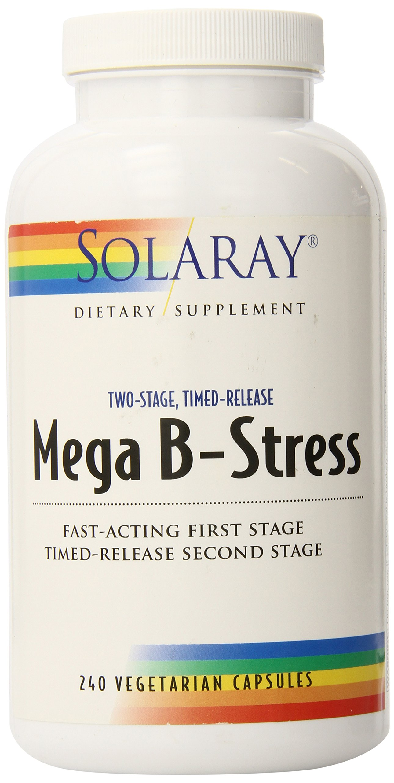 Solaray B-stress, Mega Two-Stage Timed Release, 240 Count