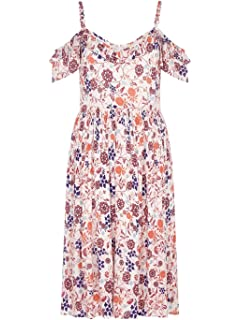 Yumi Damen Skater Kleid Elfenbein elfenbeinfarben  Amazon.de  Bekleidung c517039f20