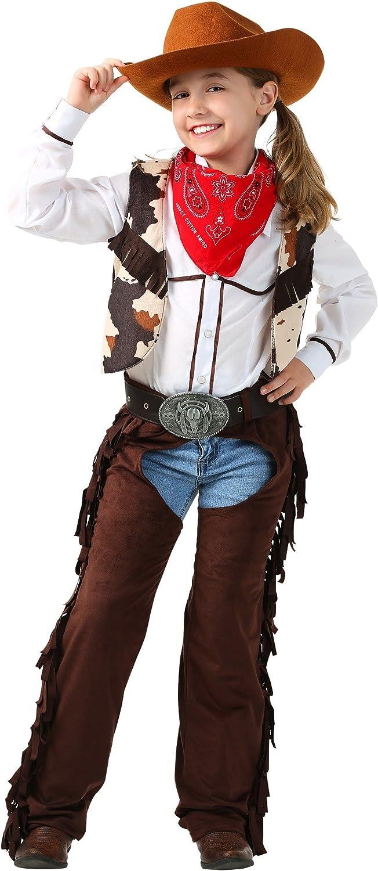 Child/'s Black Cowboy Leather Chaps /& Vest Costume