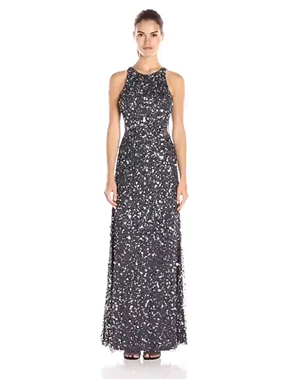 Amazon.com: Adrianna Papell Womens Racer Bodice with Cutout Gown: Clothing