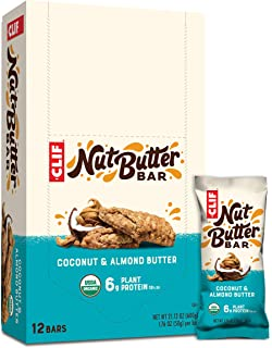 product image for Clif Nut Butter Bar - Organic Snack Bars - Coconut Almond Butter - (1.76 Ounce Protein Snack Bars, 12 Count) (Packaging May Vary)