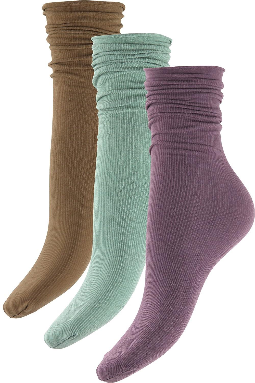 Women's Knee High Thick Nylon Boot Socks - 3 Pack