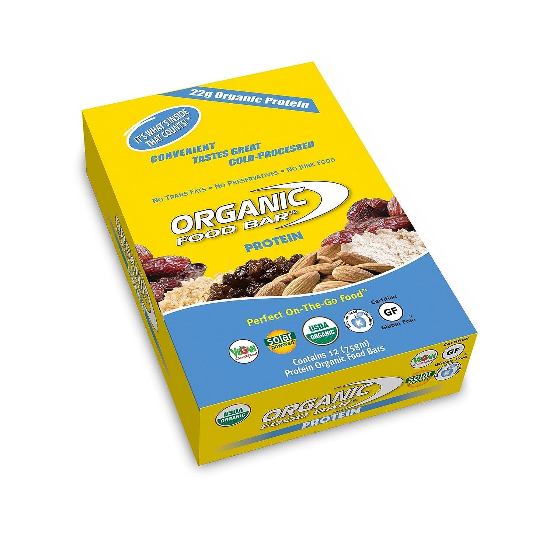 Amazoncom Organic Food Bar Protein Bar Perfect On The Go Food