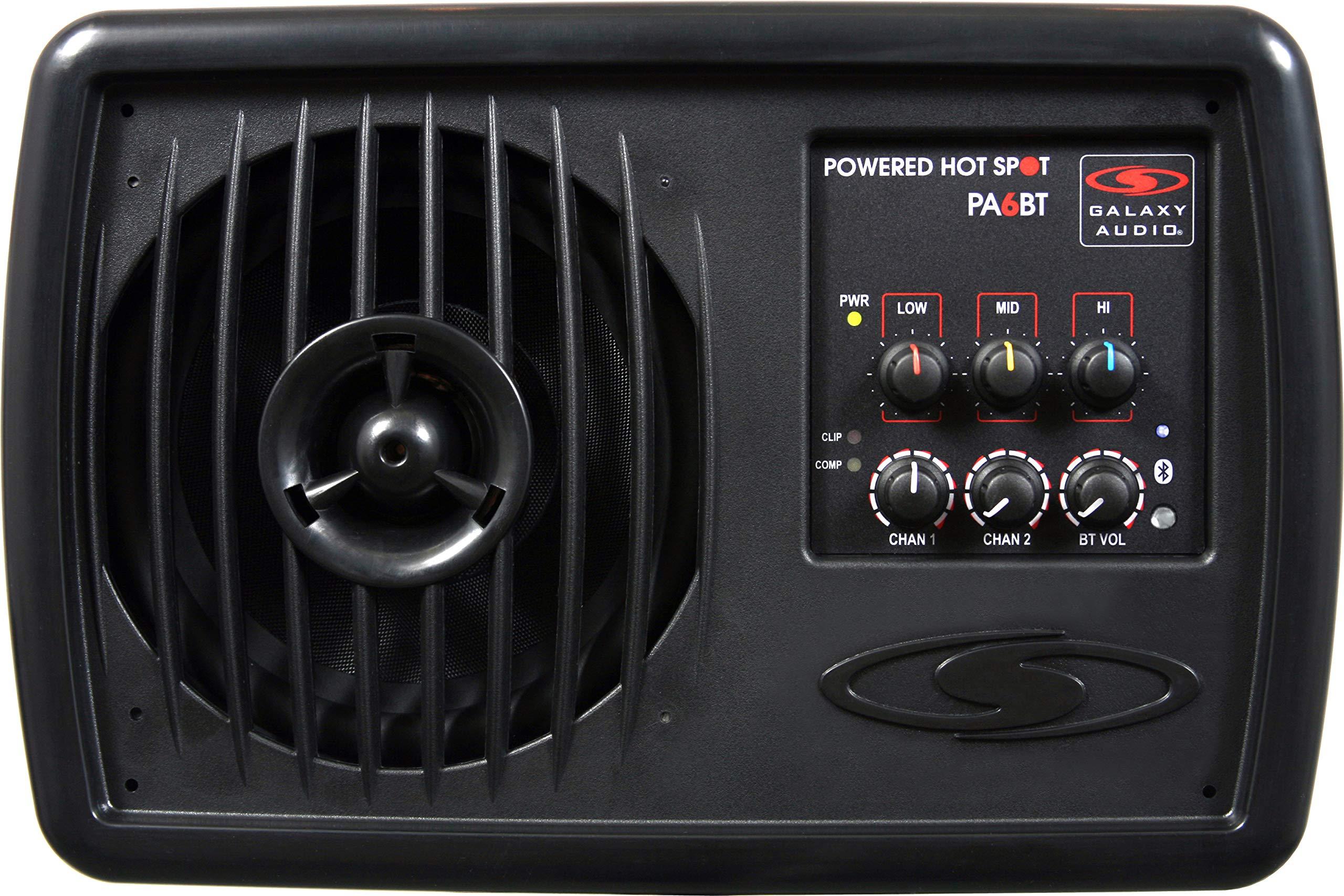 Galaxy Audio PA6BT 6'' 170 Watt 2-Way Powered Hot Spot Monitor Speaker With Bluetooth