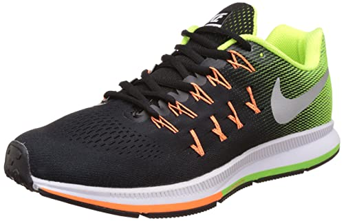 insondable lavandería Rítmico  Buy Nike Men's Air Zoom Pegasus 33 Black, Green and White Running Shoes -  7.5 UK/India (42 EU)(8.5 US)(831352-006) at Amazon.in