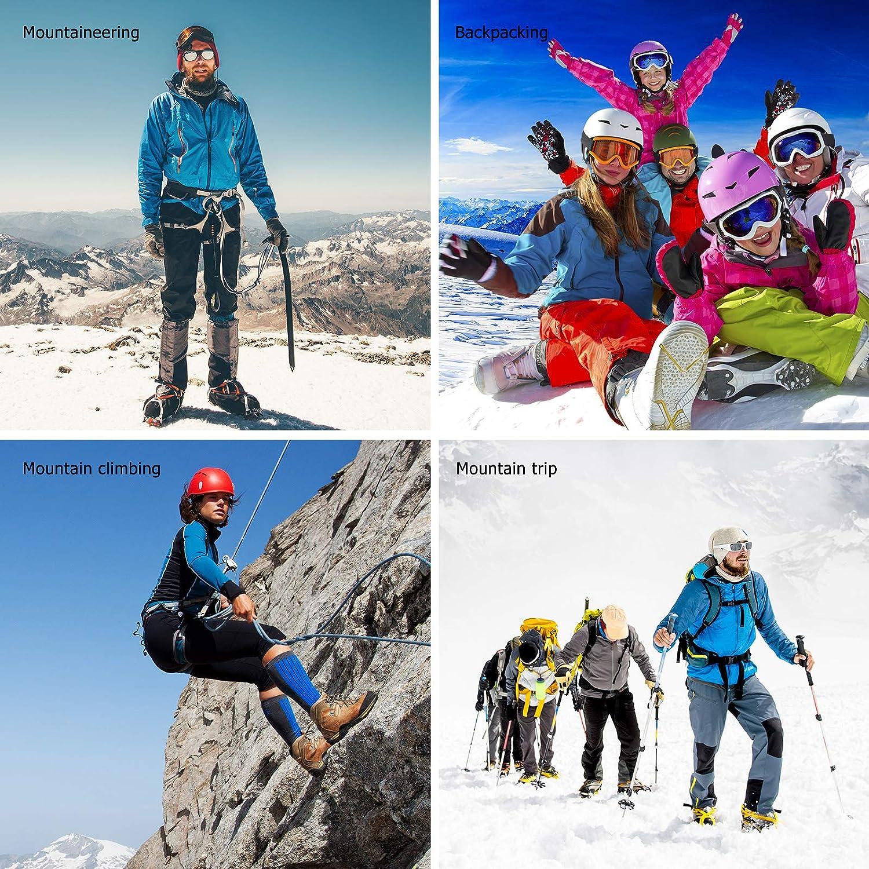 Ramponi Ghiaccio Universali per Scarponi Alpinismo Trekking Trail Running Campeggio Arrampicata 10 Spikes Scarpe Ramponcini da Neve ENCOMAG Ramponi Antiscivolo per Scarpe