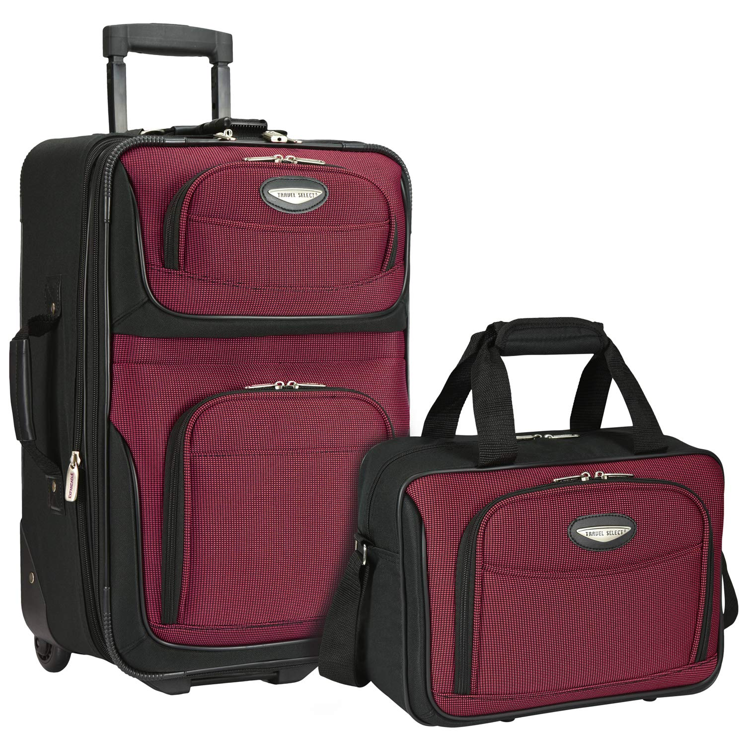 Traveler's Choice 2-Piece Set, Burgundy by Traveler's Choice