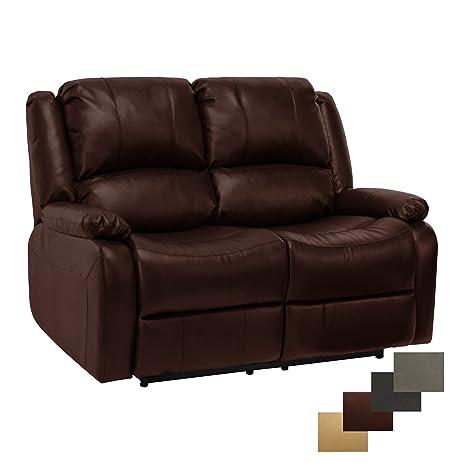 RecPro Charles 58u0026quot; Double RV Zero Wall Hugger Recliner Sofa Loveseat  Mahogany