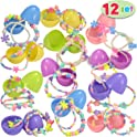 Joyin 12 Pre-Filled Easter Eggs w/ Necklaces & Bracelets for Girls