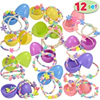 Joyin 12 Pre-Filled Easter Eggs w/ Necklaces & Bracelets for Girls
